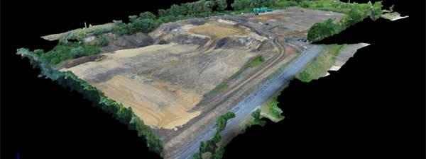 Earthworks operations and aerial surveying and 3D modelling
